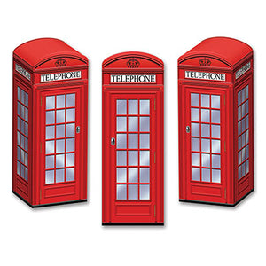red phone box favor boxes 3 per package