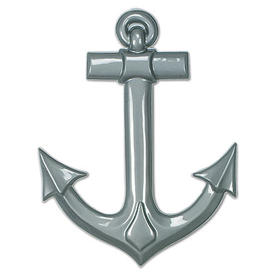 gray plastic anchor measures 25 inches