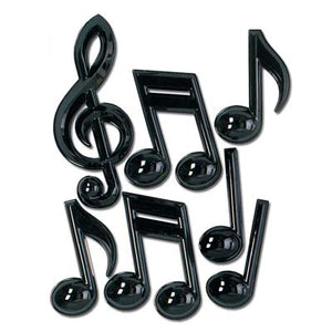 plastic music notes measure 13 inches to 22 inches 7 per package