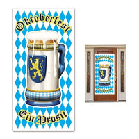 oktoberfest door cover measures 30 inches by 5 feet