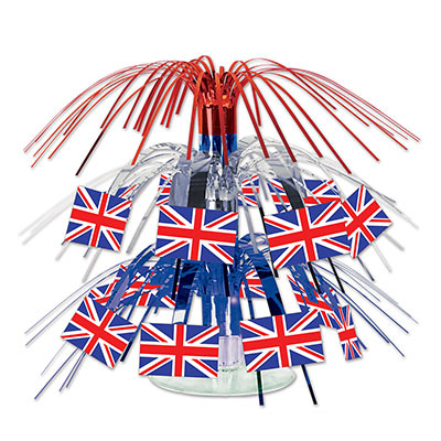british flag mini centerpiece measures 7.5 inches 1 per package