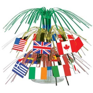 International Flag Mini Cascade Centrepiece