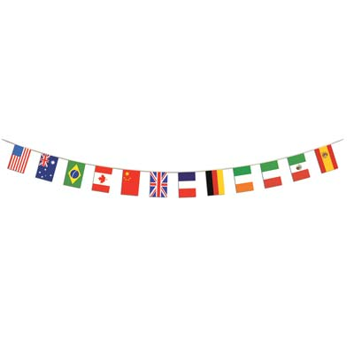 international flags pennant banner 14 feet 6 inches long 1 per package