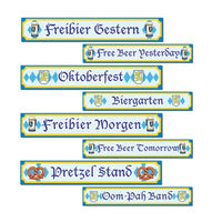 oktoberfest signs 4 per package printed 2 sides with different designs
