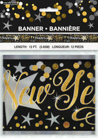 Metallic Happy New Year Banner 12' package