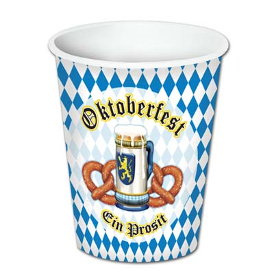 oktoberfest 9oz cups, hot and cold use, 8 per package