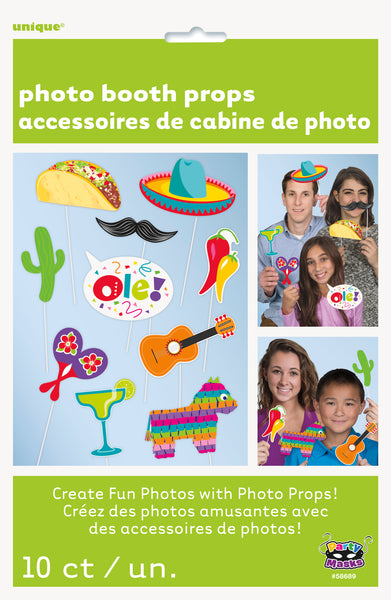fiesta photo booth props 10 count