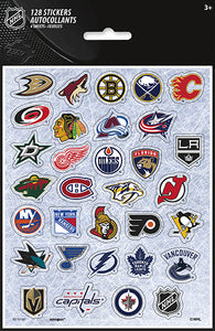 NHL sticker sheets 128 stickers all NHL teams