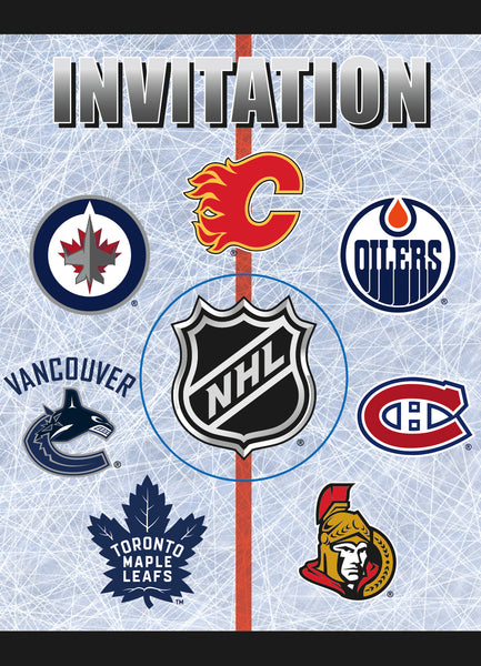 NHL invitations featuring 7 Canadian teams 8 count