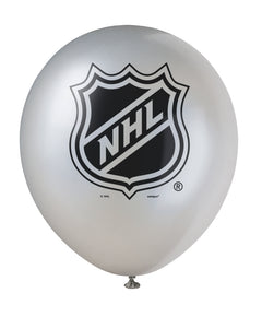 NHL silver 12 inch latex balloon, 2 in each package