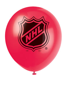 NHL red 12 inch latex balloon, 2 in each package
