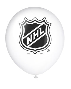 NHL white 12 inch latex balloon, 2 in each package