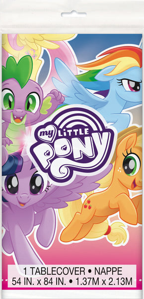 My Little Pony table cover measures 54 inches by 84 inches