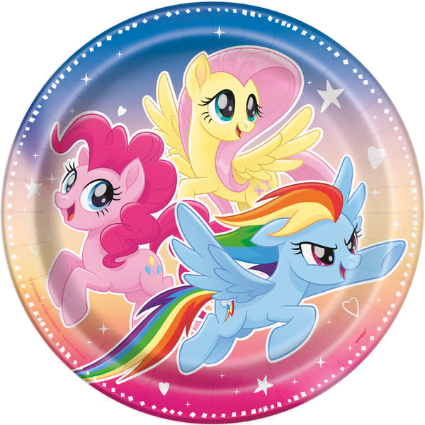 my little pony 9 inch plates, 8 per package