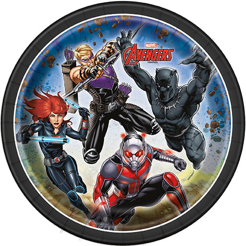 avengers 7 inch paper plates 8 count