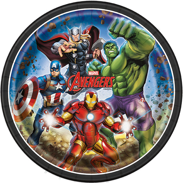 avengers 9 inch paper plates 8 count