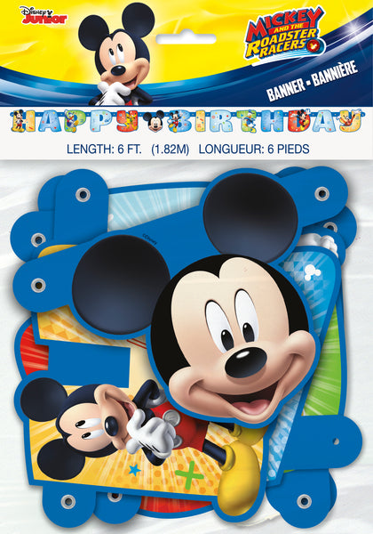 mickey & friends jointed 6 foot happy birthday banner in package