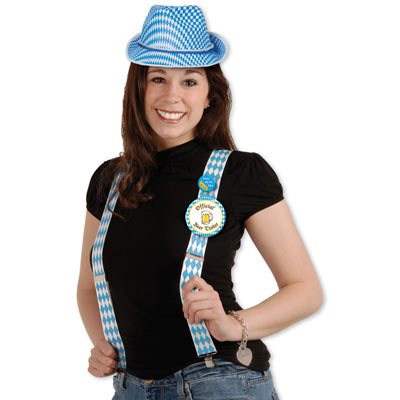 oktoberfest suspenders, will fit most adults