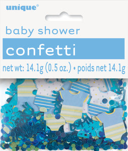 boy baby shower confetti