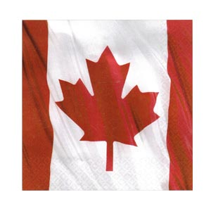 Canadian Flag Luncheon Napkins