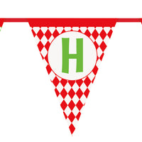 Merry Christmas pennant banner measuring 14 feet