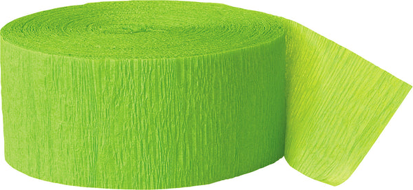 Lime Green Crepe streamers