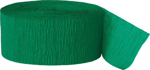 Emerald Green crepe streamers