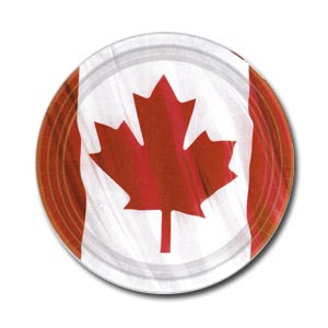 Canadian Flag Paper Dinner Plates