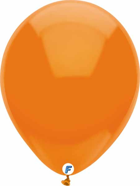 Orange balloon 12 inch funsational brand
