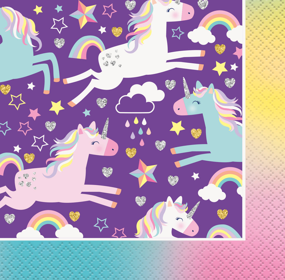 Unicorn Beverage Napkins