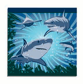 shark luncheon napkins