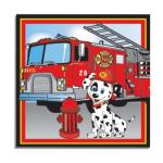 firefighter luncheon napkins