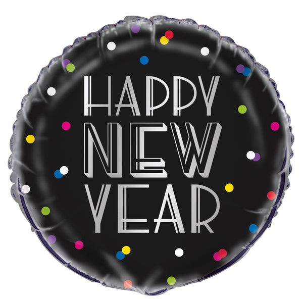 Neon Dots foil New Year balloon