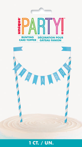 its a boy bunting cake topper