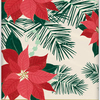Red and Gold Poinsettia Plastic table cover
