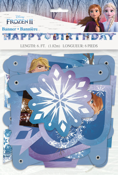 frozen jointed happy birthday banner 6 feet long in package