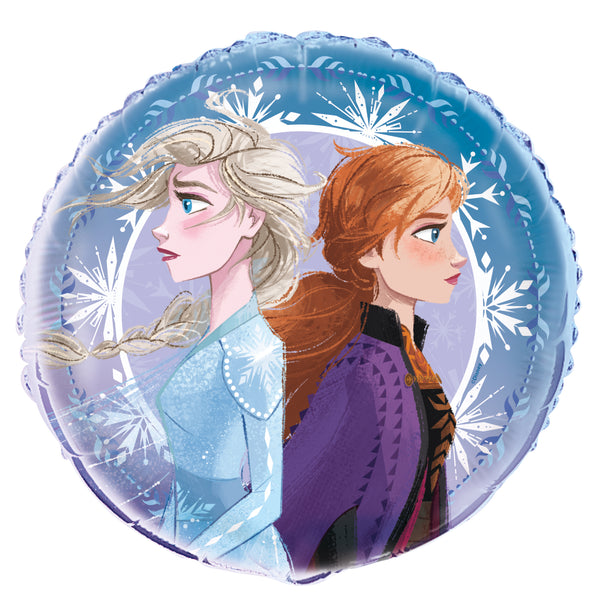 frozen 18 inch foil balloon with anna and elsa empty