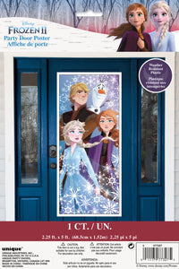 Frozen door poster anna elsa olaf kristoff 2.25 feet by 5 feet in package