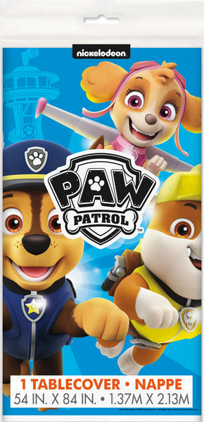 paw patrol plastic tablecover packaged