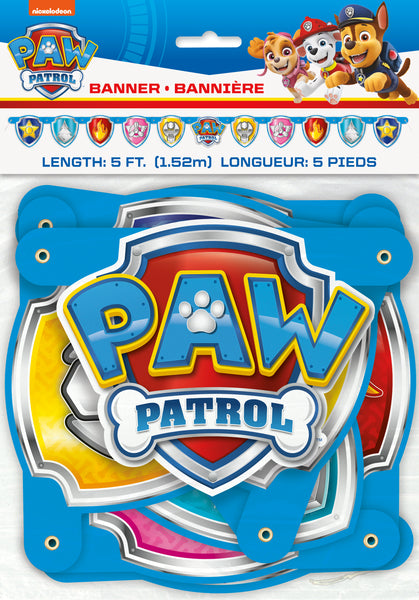 Paw Patrol jointed banner, packaged