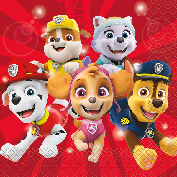Paw Patrol Luncheon napkins are 16 per package