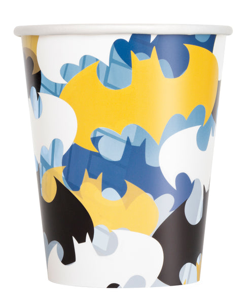 batman 9oz paper cups 8 count