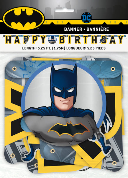 batman birthday banner 5.25 feet, packaged