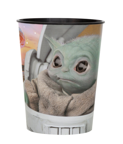 the mandalorian 16oz plastic cup