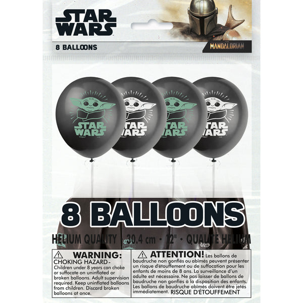 the mandalorian 12 inch latex balloons