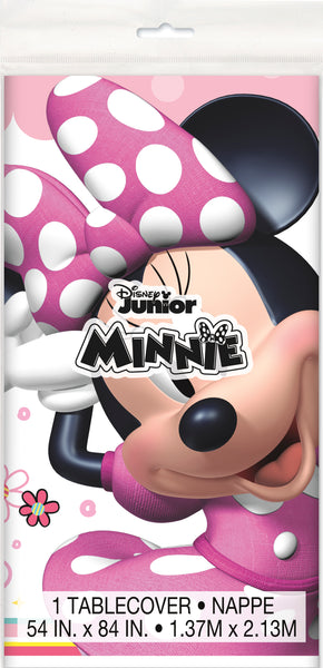 minnie mouse plastic tablecover packaged