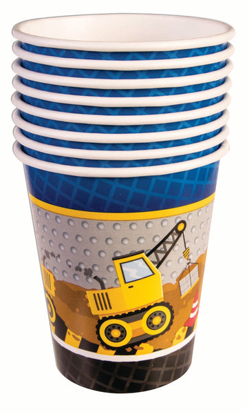 construction party 9oz cup