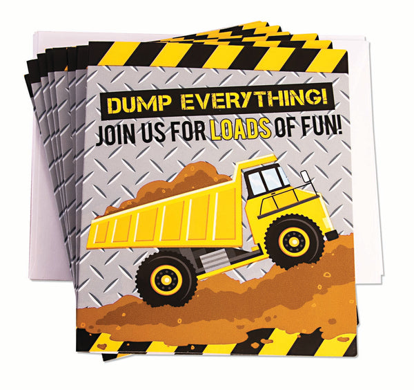 Construction Party Invitations