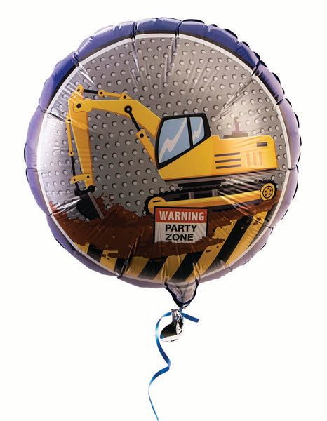 Construction Party 18 inch Foil Balloon