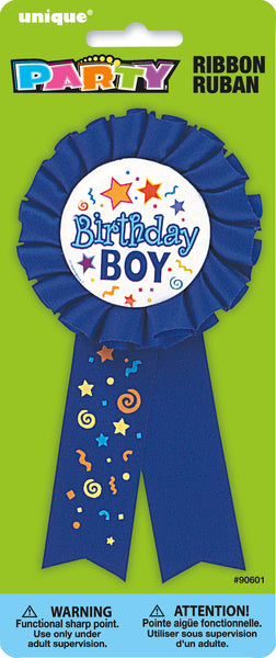 blue birthday boy award ribbon
